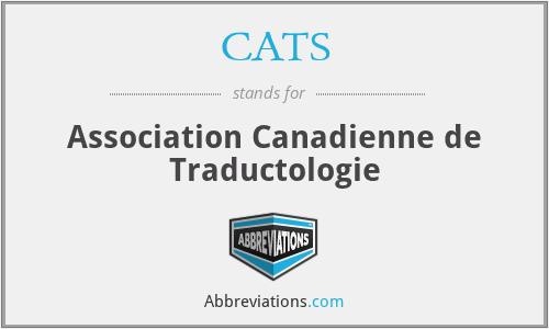 CATS - Association Canadienne de Traductologie