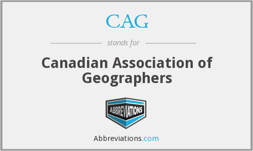 CAG - Canadian Association of Geographers