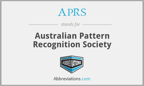 APRS - Australian Pattern Recognition Society