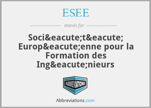 ESEE - Société Européenne pour la Formation des Ingénieurs