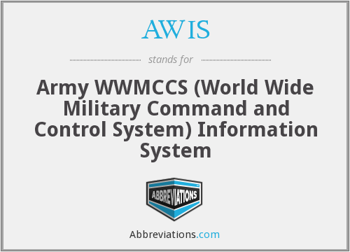 AWIS - Army WWMCCS ( World Wide Military Command and Control System) Information System