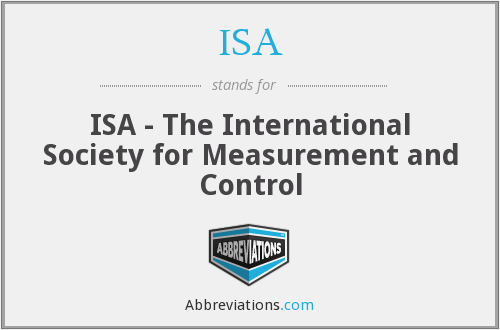 ISA - ISA - The International Society for Measurement and Control