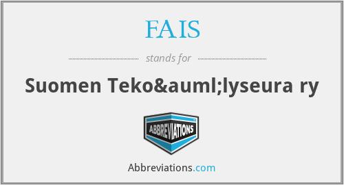 FAIS - Suomen Tekoälyseura ry