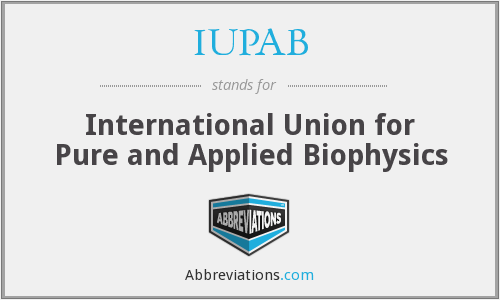 What does IUPAB stand for?