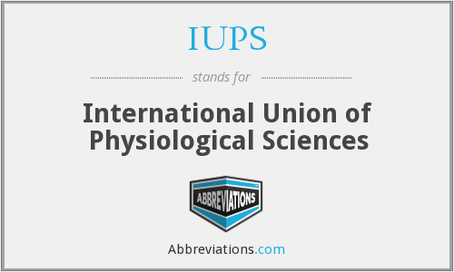 What does IUPS stand for?