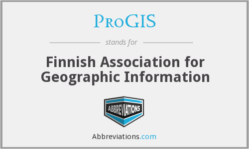 ProGIS - Finnish Association for Geographic Information