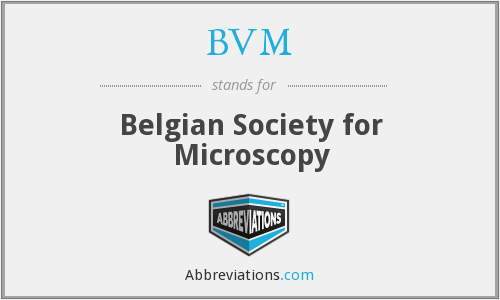 BVM - Belgian Society for Microscopy