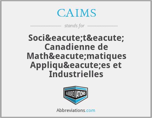 CAIMS - Société Canadienne de Mathématiques Appliquées et Industrielles