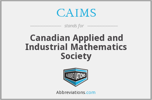 CAIMS - Canadian Applied and Industrial Mathematics Society