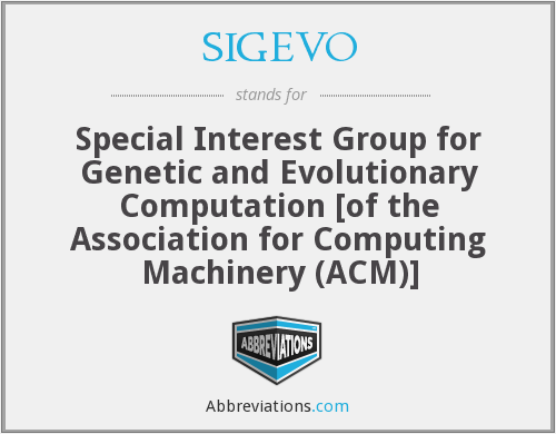 What does SIGEVO stand for?