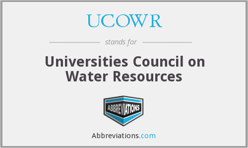 UCOWR - Universities Council on Water Resources