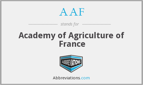 AAF - Academy of Agriculture of France