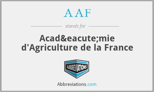 AAF - Académie d'Agriculture de la France