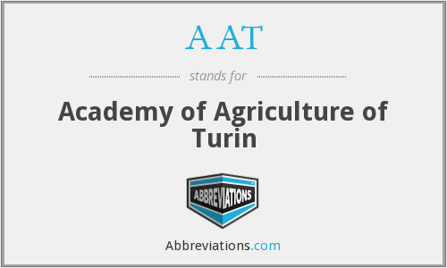 AAT - Academy of Agriculture of Turin