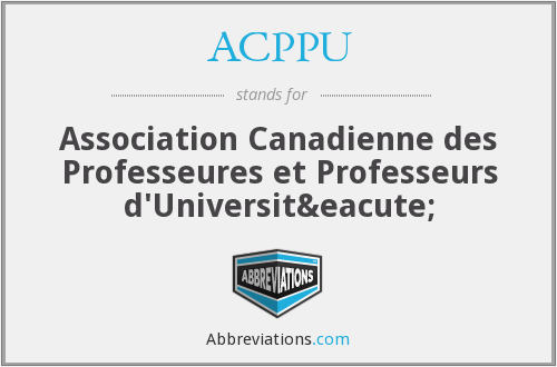 What does ACPPU stand for?