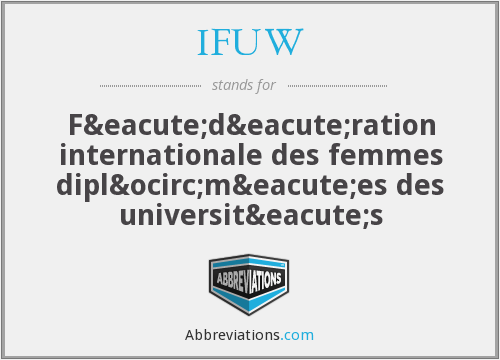 What does IFUW stand for?