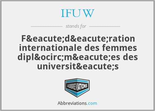 IFUW - Fédération internationale des femmes diplômées des universités