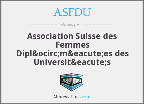 What does ASFDU stand for?