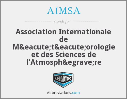 What does AIMSA stand for?