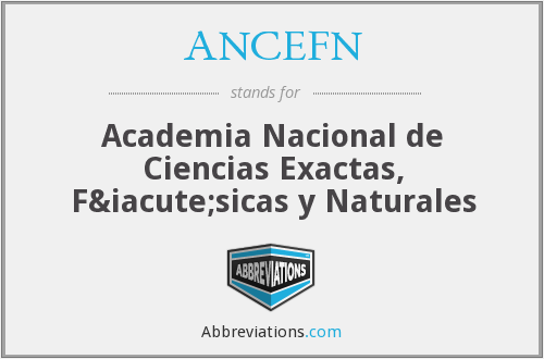 What does ANCEFN stand for?