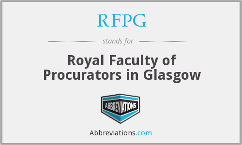 What does RFPG stand for?