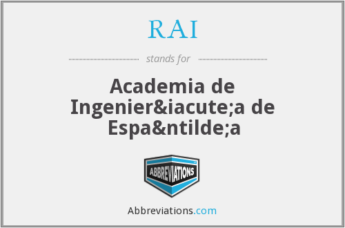 RAI - Academia de Ingeniería de España