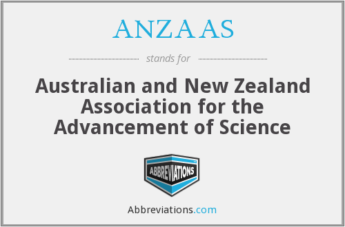 What does ANZAAS stand for?