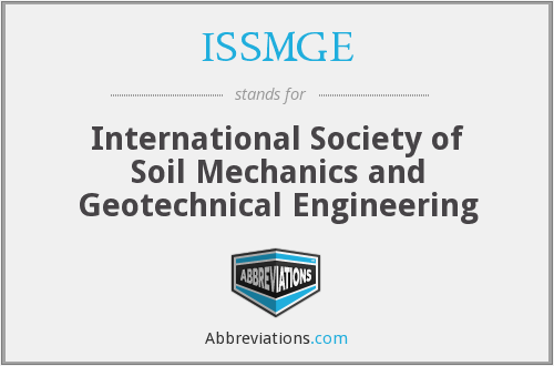 ISSMGE - International Society of Soil Mechanics and Geotechnical Engineering