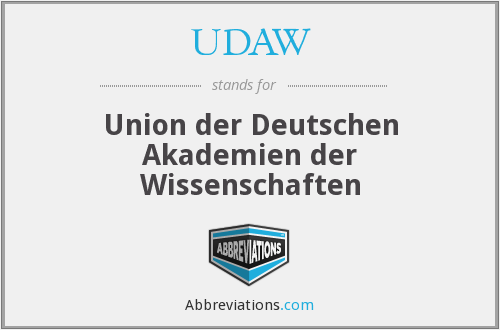 What does UDAW stand for?