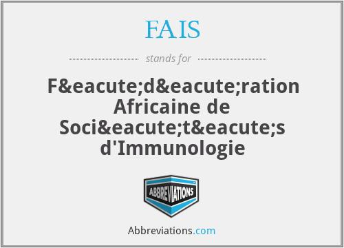 FAIS - Fédération Africaine de Sociétés d'Immunologie