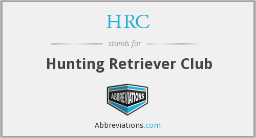 HRC - Hunting Retriever Club