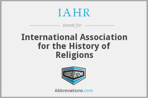 IAHR - International Association for the History of Religions