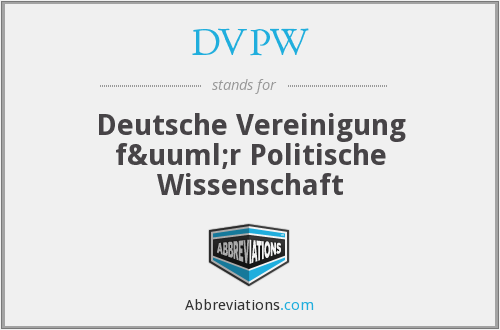What does DVPW stand for?