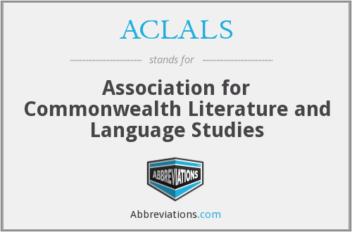 ACLALS - Association for Commonwealth Literature and Language Studies