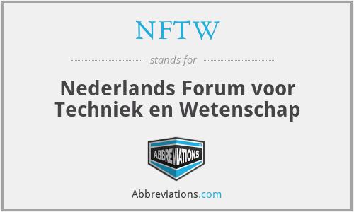 NFTW - Nederlands Forum voor Techniek en Wetenschap