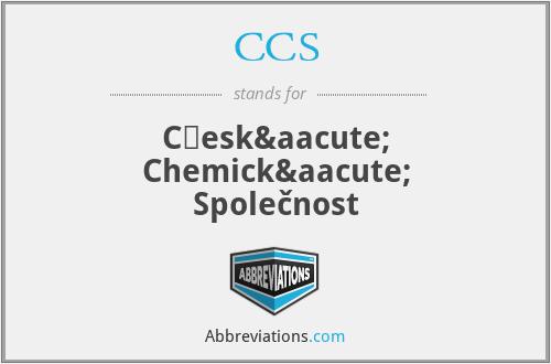 CCS - Česká Chemická Společnost