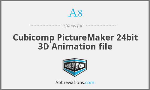 A8 - Cubicomp PictureMaker 24bit 3D Animation file