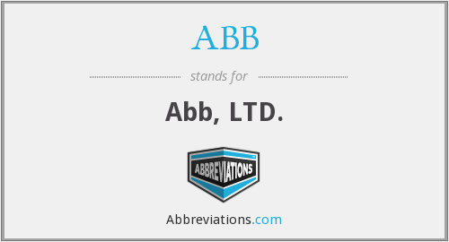 What does ABB stand for?