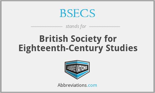 BSECS - British Society for Eighteenth-Century Studies