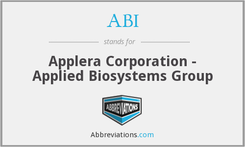 ABI - Applera Corporation - Applied Biosystems Group