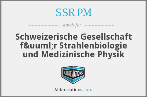 What does SSRPM stand for?