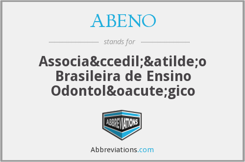 What does ABENO stand for?