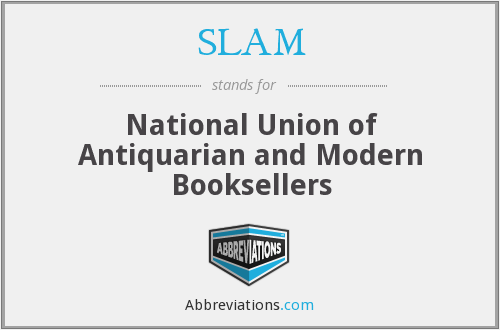 SLAM - National Union of Antiquarian and Modern Booksellers