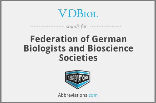 VDBiol - Federation of German Biologists and Bioscience Societies