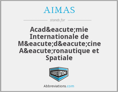 What does AIMAS stand for?