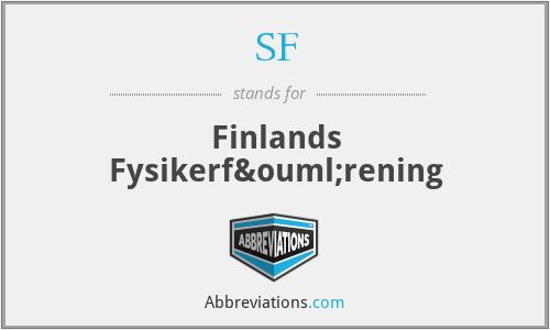 SF - Finlands Fysikerförening