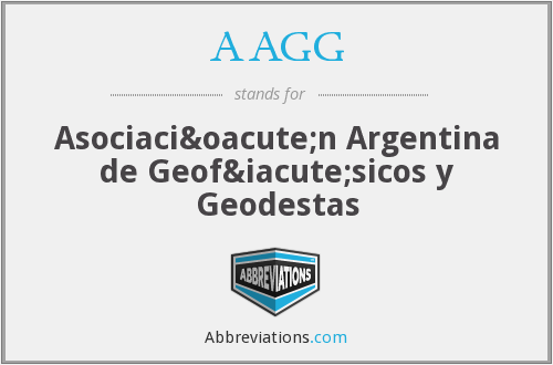 AAGG - Asociación Argentina de Geofísicos y Geodestas