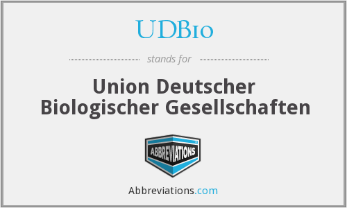 What does UDBIO stand for?