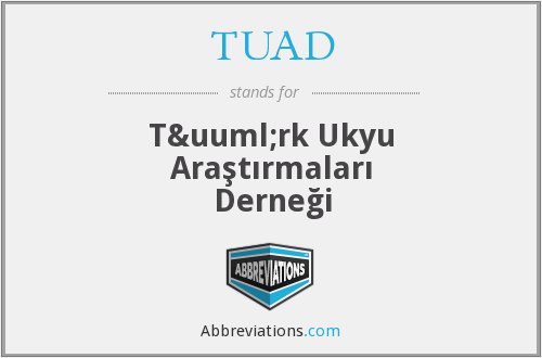 What does TUAD stand for?