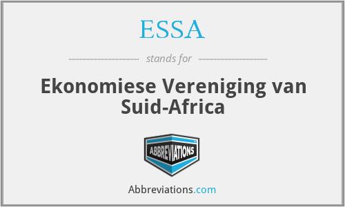 ESSA - Ekonomiese Vereniging van Suid-Africa